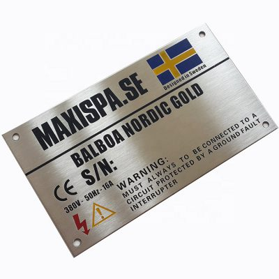 Acid-etched-stainless-steel-brass-nameplate-Laser