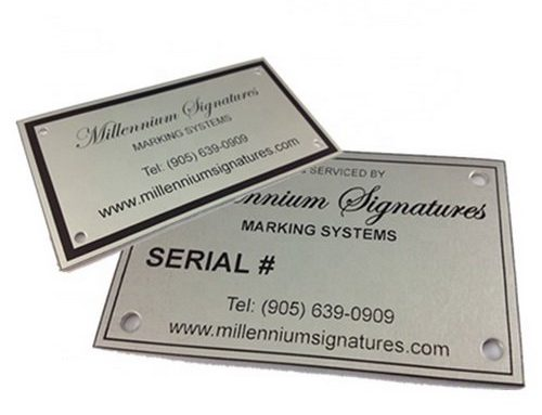 How to make etched nameplates
