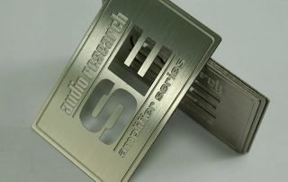 stainless steel nameplate engraving
