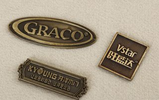 brass label for furniture