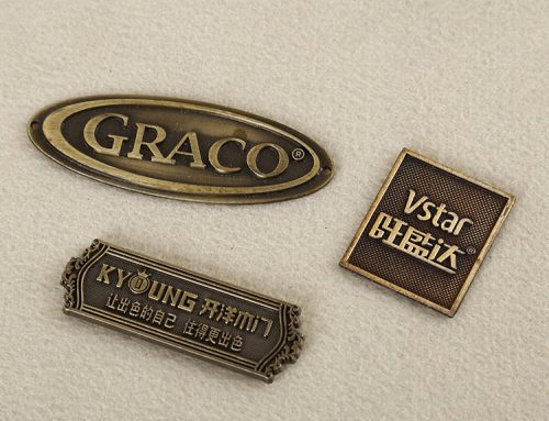 Different type of materials for furniture nameplates and labels