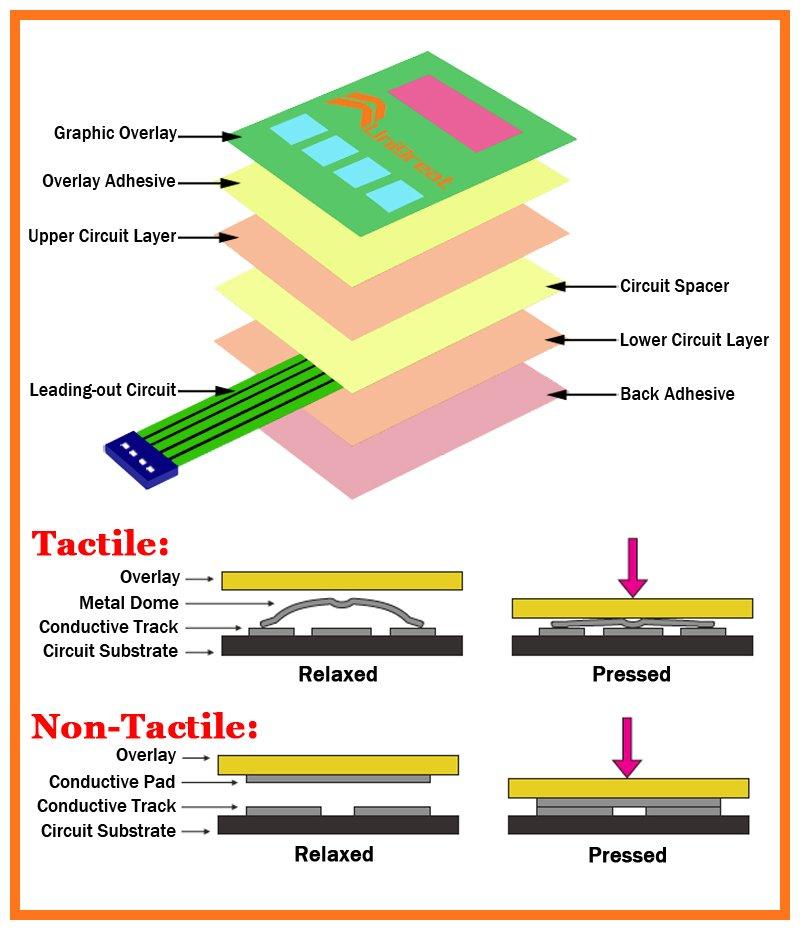 membrane switch construction